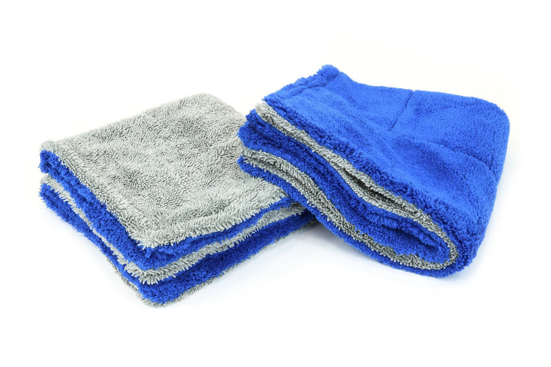Amphibian Jr. | Microfiber Double Twist Pile Detailing Towel (16 in. x 16 in., 1100gsm) - 2 pack