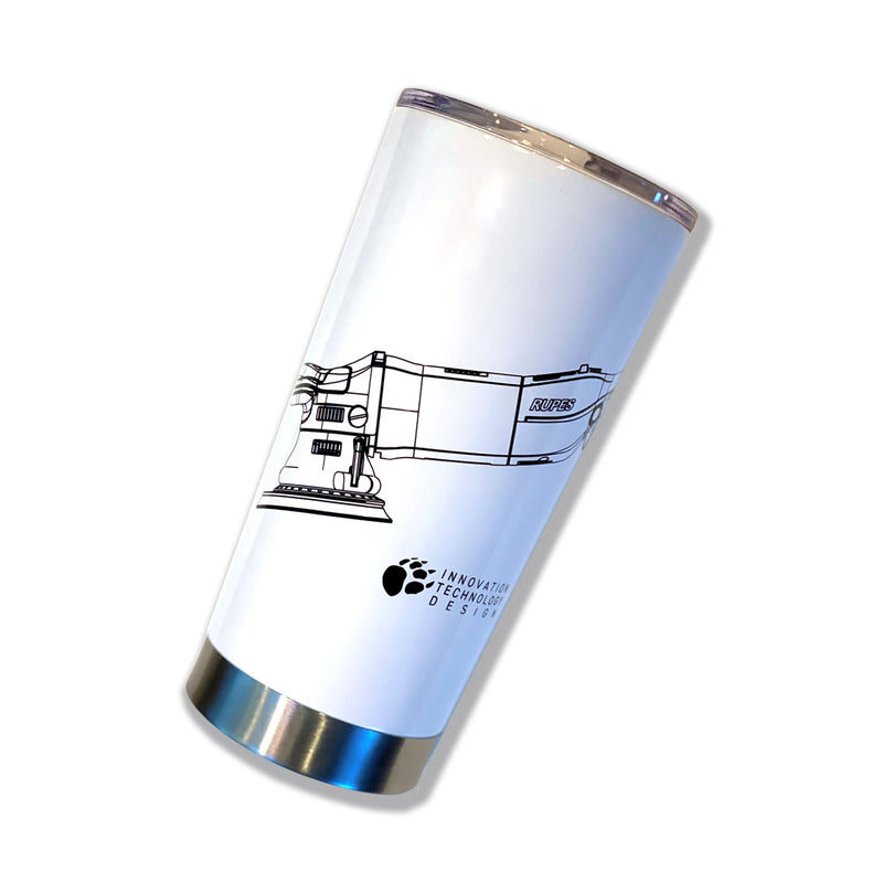 Gloss White RUPES BigFoot Insulated Tumbler