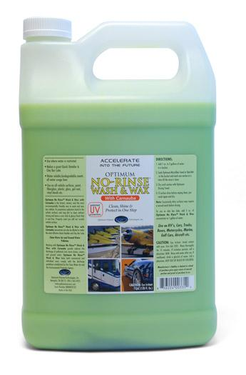 Optimum No Rinse Wash & Wax Gallon