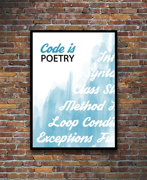 Code Is Poetry Print - Tech Studios