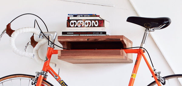 Handcrafted Solid Walnut Wood Bike Rack