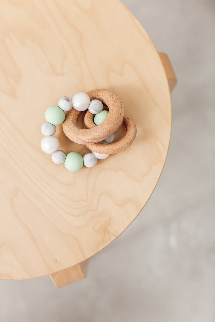 Bowerbird Creations Saturn Teething Toy | Baby Gift Hamper Noosa Gift Co.