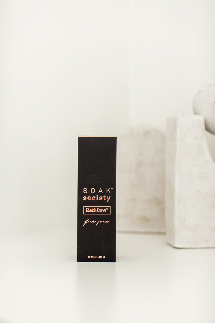 BathDew™ Flower Power (250ml) by Soak Society | Noosa Luxe Gift Box for her by Noosa Gift Co.