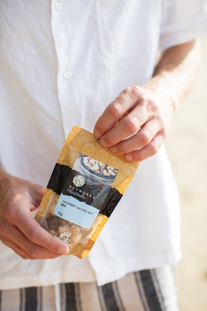 Gourmet Salted Nut Mix by Nutworks | The Hastings Gift Box for Him by Noosa Gift Co.