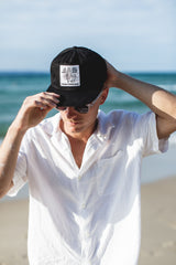 Thomas No Neg Vibes Hat (Black) by Thomas Surfboards | Noosa Gift Co.