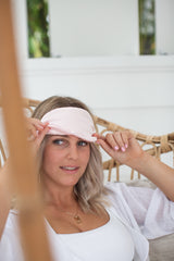Blush Silk Eye Mask by Sleep Society | Gifts for her by Noosa Gift Co.