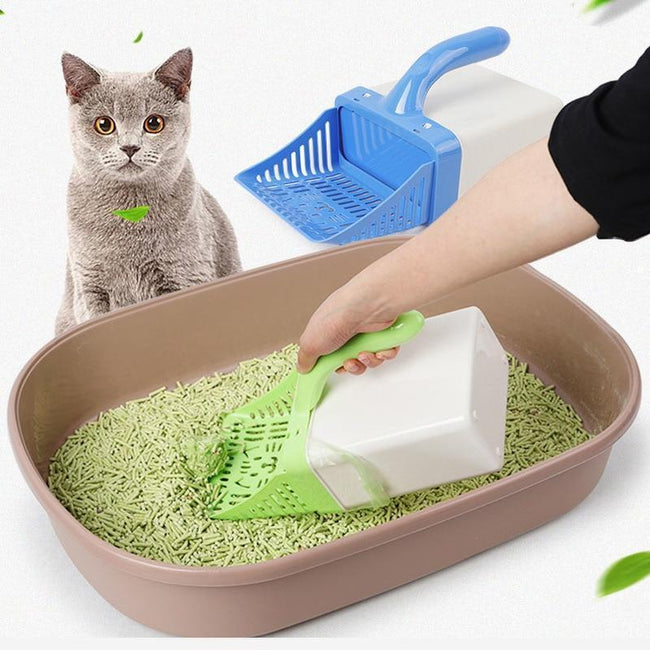 Cat Litter Shovel Scooper Easy Pet Cleaning Tool Scoop sift Cat Sand Cleaning & 15 pcs bag