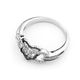 Infinite Love Ring In Black Anchor Heart Ring