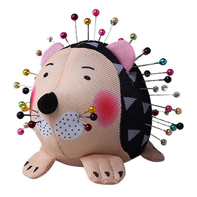 Needlecraft Portable Cartoon Hedgehog Home Holder Pin Cushion Practical DIY Lightweight Patchwork