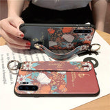 Rose Flowers Wrist Strap Huawei Case