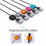 10Pcs Winder Wire Storage Silicon Cable manager Holder Desk Tidy Organiser For Digital Cable