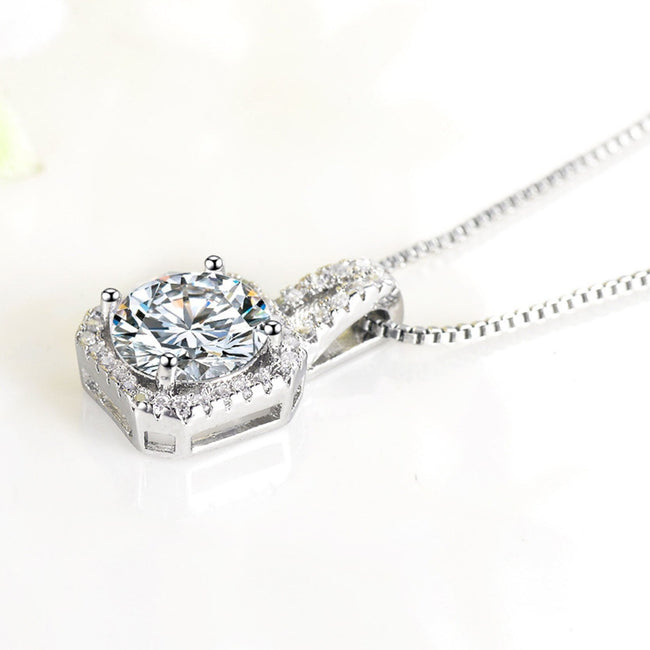Cubic Zirconia Necklace/Earring Set Parure Best Valentine's Gift
