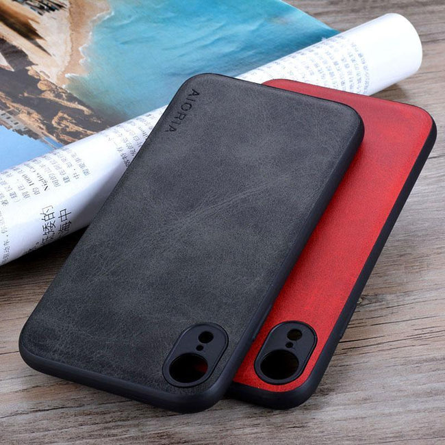 Case for iPhone Luxury funda Vintage leather Skin cover  fashion