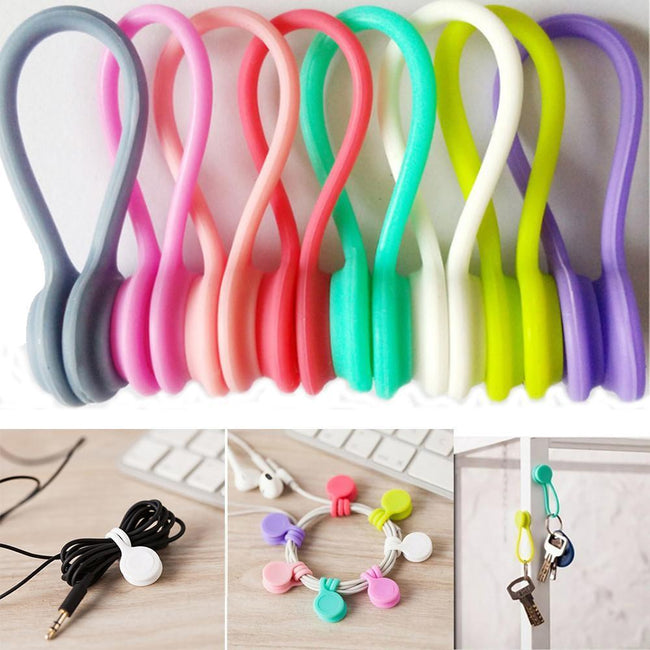 8Pcs Multifunction Magnet Earphone Cord Winder Cable Clips For Earphone Cables