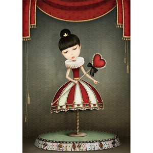 Queen of Hearts decoupage paper
