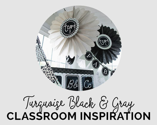 Turquoise Black and Gray Classroom Couture