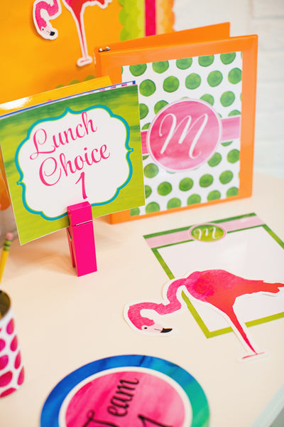 Flamingo Watercolor - Editable Sign Template