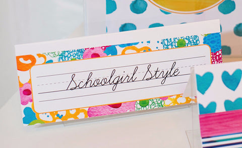 Flamingo Watercolor - Nameplates {UPRINT}