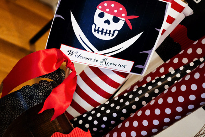 Pirate Flag Table Signs {UPRINT}