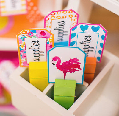 Flamingo Watercolor - Locker/Luggage Tags
