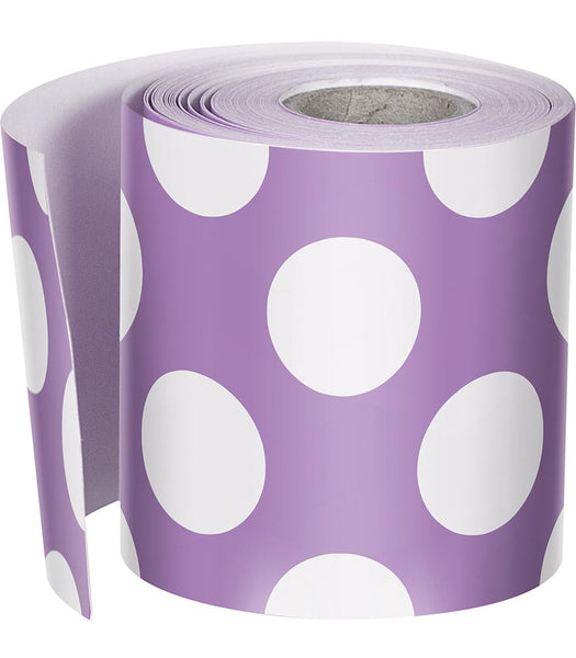 {My Friends Call Me Lavender} Polka Dot Rolled Straight Border
