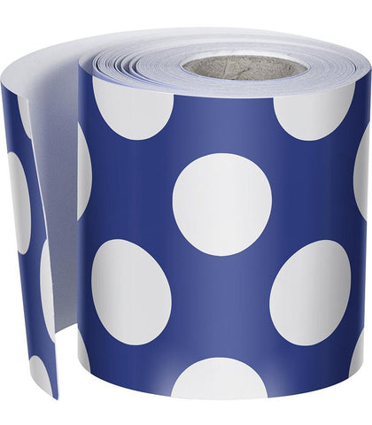 Schoolgirl Style - {Blueberry Pie} Polka Dot Rolled Foundation Border