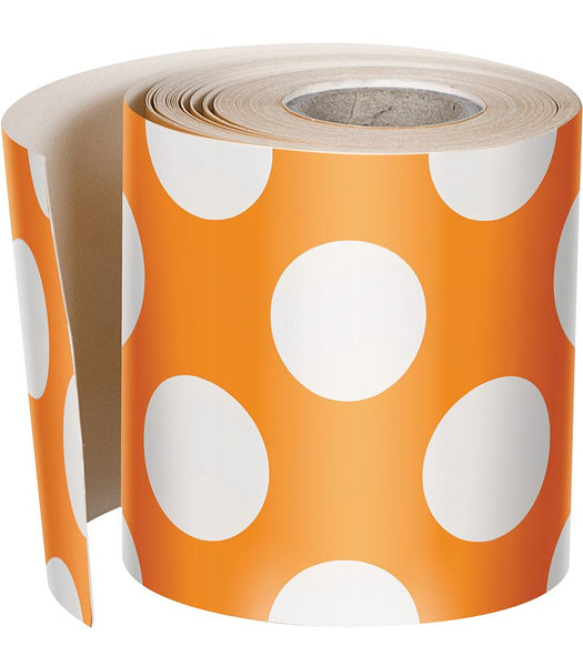 Schoolgirl Style - {Orange Crush} Polka Dot Rolled Foundation Border