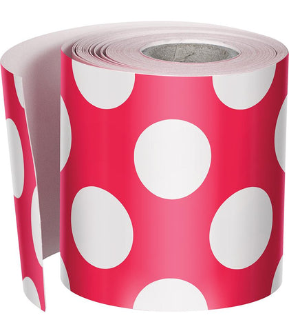 {Cherry Soda} Polka Dot Rolled Straight Border