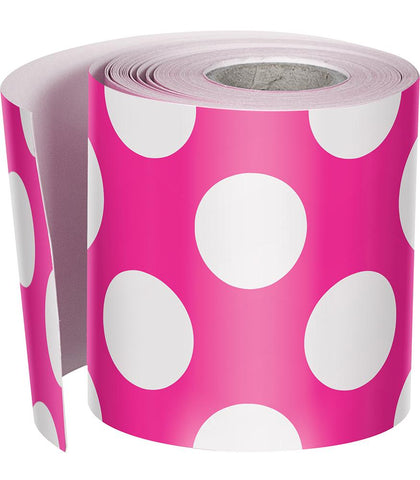 {Girls Just Want to Have Fun} Polka Dot Rolled Straight Border