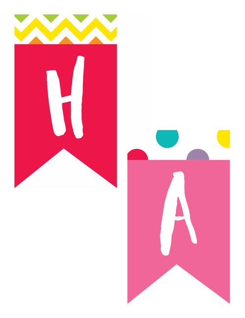 Schoolgirl Style - Just Teach Happy Birthday Pennant Banner {U PRINT}