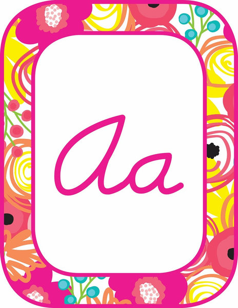 Pina Colada Pineapple - Cursive Alphabet Cards {UPRINT}