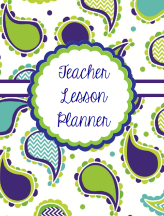 Blue Paisley - {DIGITAL Teacher PLANNER and ORGANIZER}