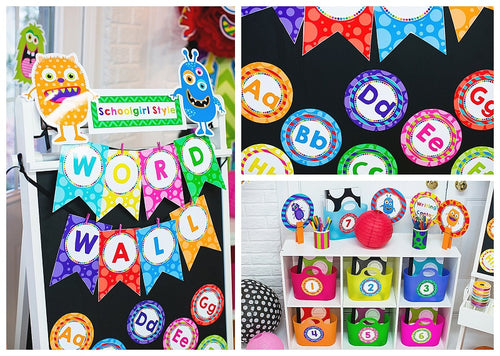 Monster Word Wall Labels {UPRINT}