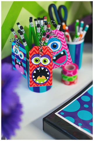 Monster Locker/Luggage Tags