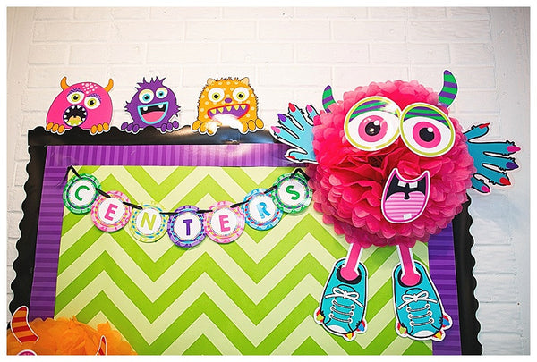 Monster Bulletin Board Letters