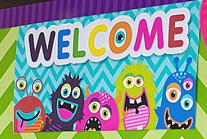 Monster Welcome Sign {UPRINT}