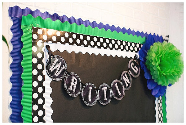 Chalkboard & Polka Dots Bulletin Board Letters & Numbers {UPRINT}