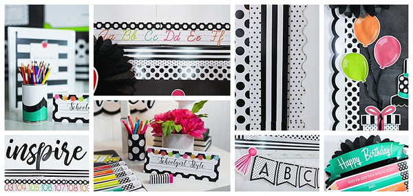 Black, White & Stylish Brights Full Collection