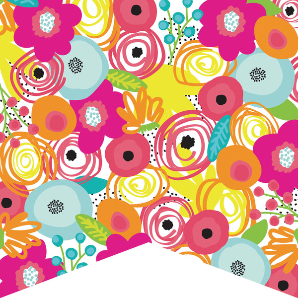 Simply Stylish Tropical 2 Point Banner {U PRINT}