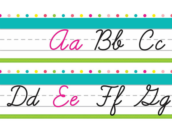 Pina Colada Pineapple - Cursive and Manuscript Alphabet Line