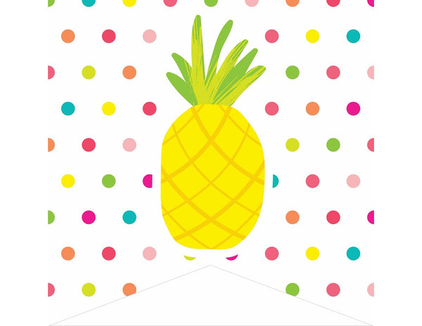 Pina Colada Pineapple - 2 Point Editable Banner
