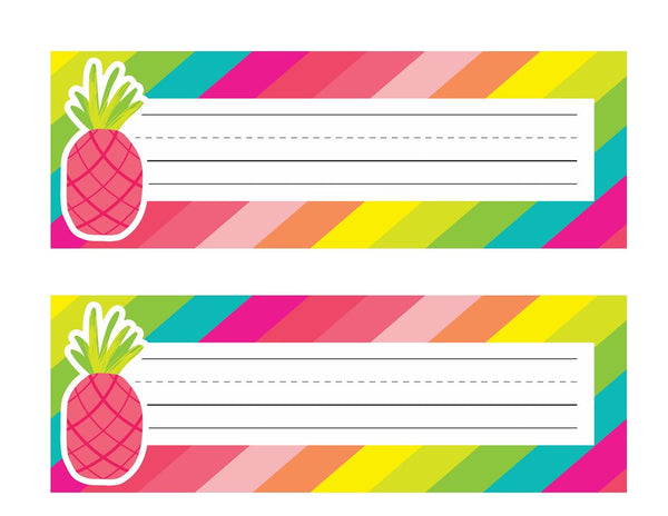 Pina Colada Pineapple - Nameplates! {UPRINT}