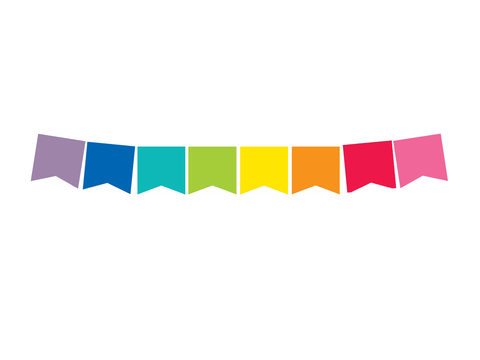 Confetti Crush - Confetti  Rainbow 2 Point Banner {U PRINT}