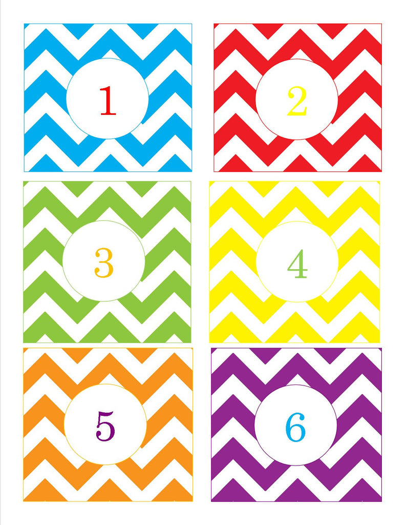 graphic relating to Printable Number Tags titled Main Apple Chevron Amount Tags