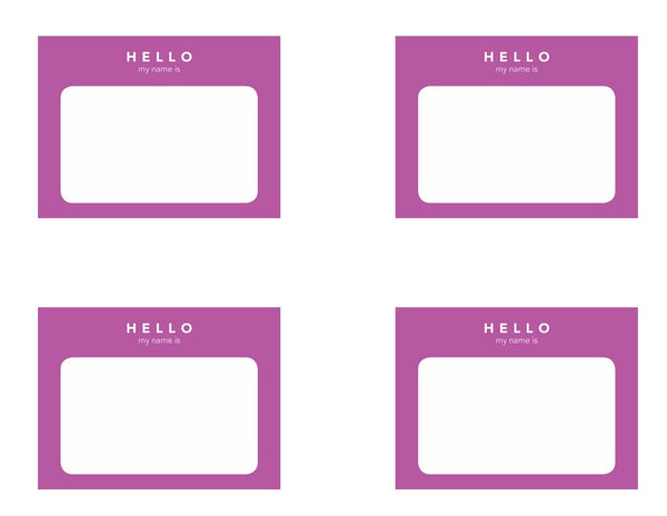 Neon Pop - 4 inch Fancy Labels and Solid Neon Labels