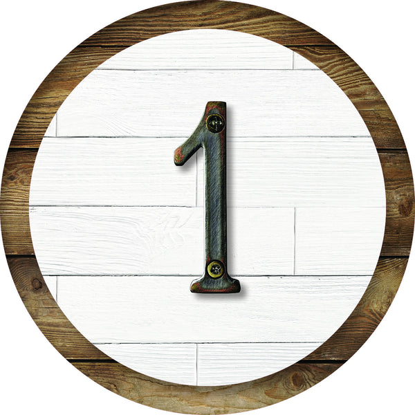 Industrial Chic Farmhouse Classic Number Circles