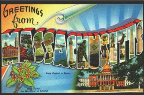 Road Trip 50 States Nostalgic Post Cards