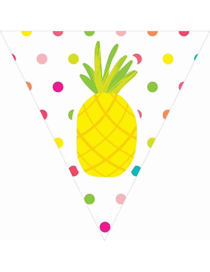 Pina Colada Pineapple - Pennant Banners {UPRINT}