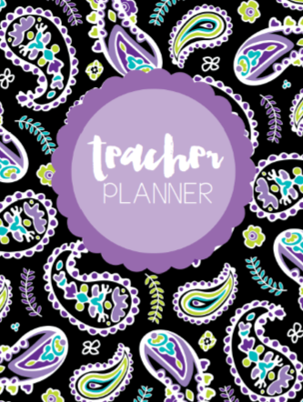 Midnight Orchid Paisley - {DIGITAL PLANNER and ORGANIZER}