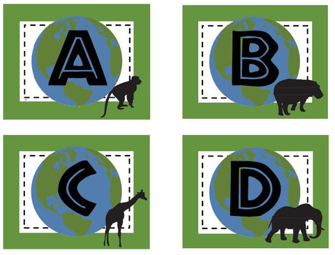 Animal Adventure Word Wall Labels